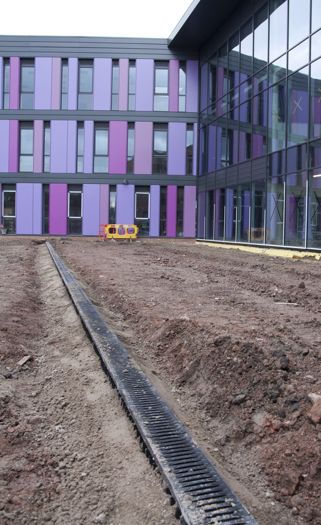 Hauraton channels installed at Oldham Academy North