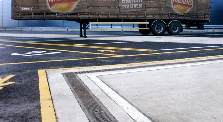 Hauraton Drainage at Walkers Foods expanded Distribution Centre