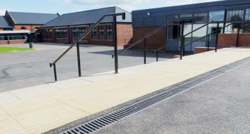 Two Hauraton surface drainage systems installed at Maltby Academy School, Rotherham.