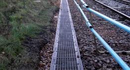Trackside drainage channels supplied by Hauraton