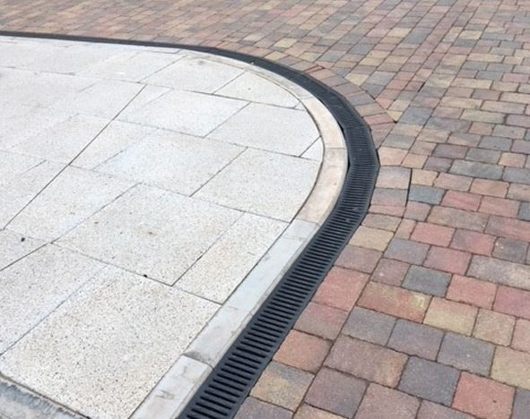 Hauraton high capacity channel system drains extensive car park at Skypark, Exeter